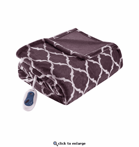 Beautyrest Heated Ogee Printed Throw - 60