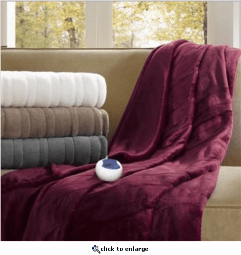 Beautyrest Heated Plush Throw