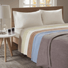 Beautyrest Heated Ribbed Microfleece Blanket - Full
