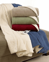 Biddeford Blankets Electric Fleece Heated Sherpa Throw with Digital Controller - Denim