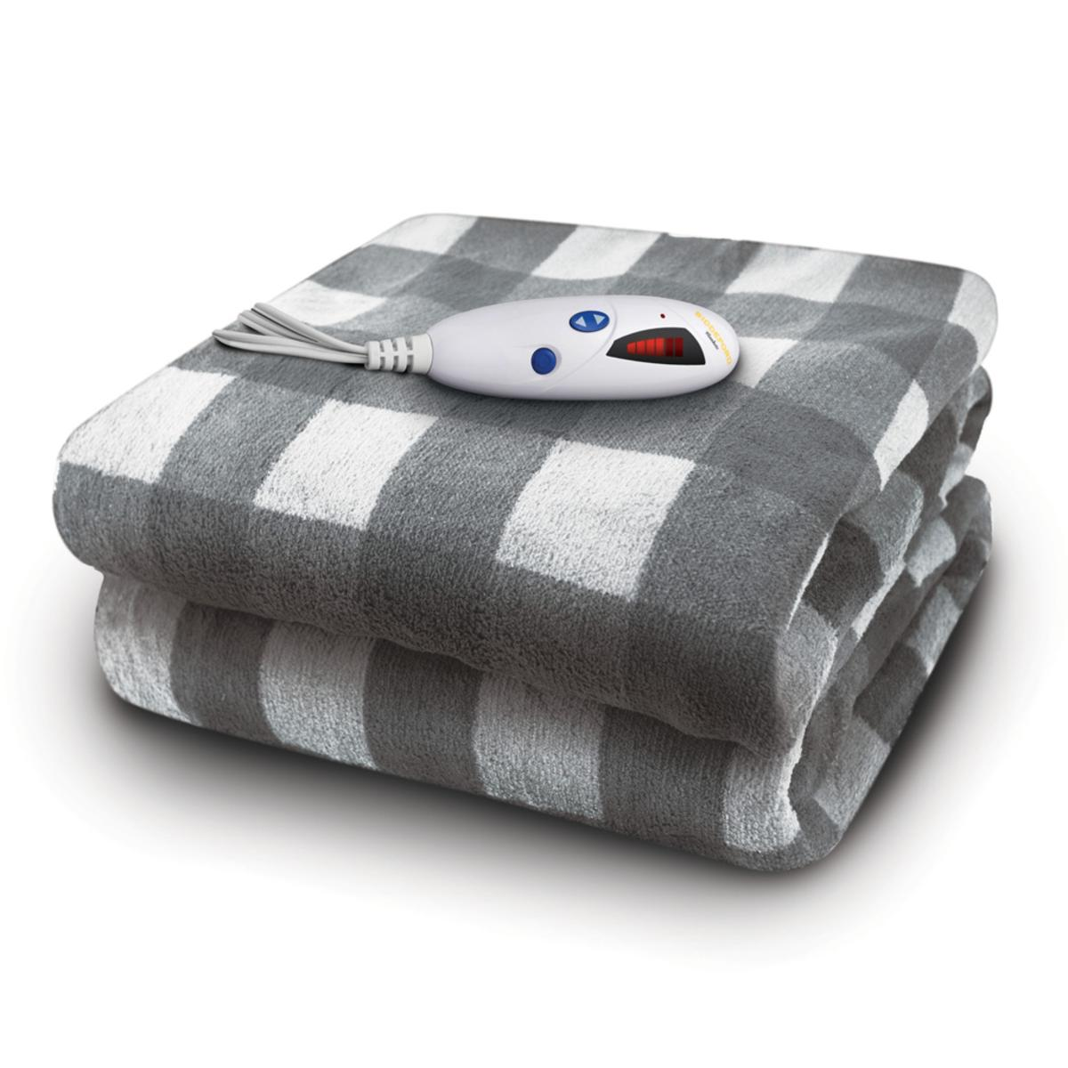 Biddeford Blankets Velour Sherpa Electric Heated Throw With Digital Controller The Warming Store