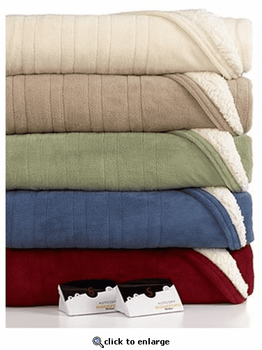 Biddeford Blankets Warming Sherpa Blanket with Digital Controller - Queen
