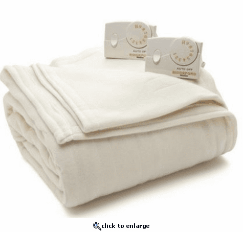 Biddeford Comfort Knit Fleece Heated Blanket - King