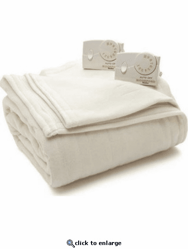 Biddeford Comfort Knit Fleece Heated Blanket - Twin