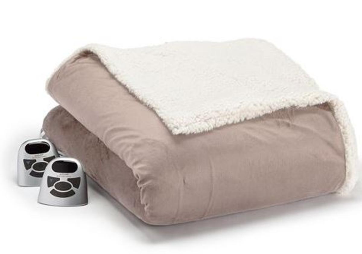 ecc3e891c9e Biddeford Heated Micromink Sherpa Heated Blanket - King - The Warming Store