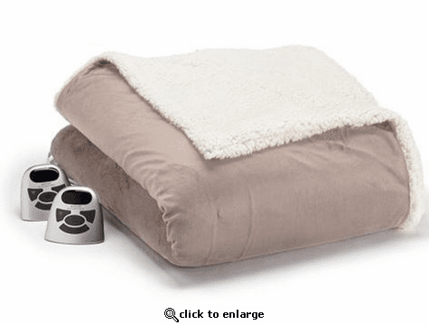 Biddeford Micromink Sherpa Heated Blanket - Queen