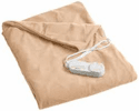 Biddeford Heated Throws with Analog Control - Tan