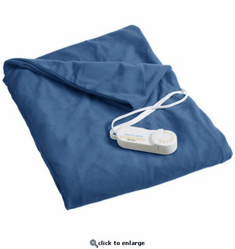 Biddeford Heated Throws with Analog Control - Denim