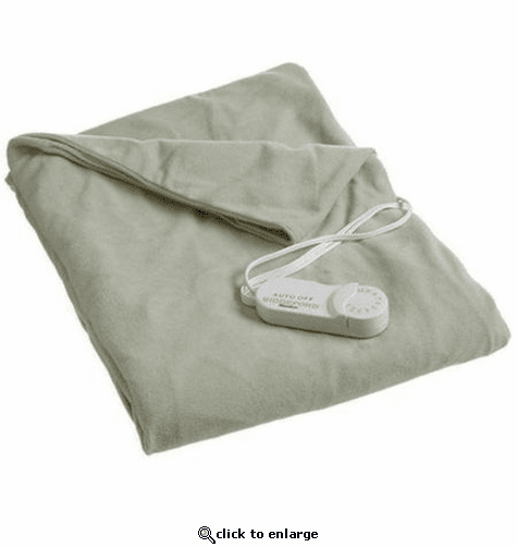 Biddeford Heated Throws with Analog Control - Sage