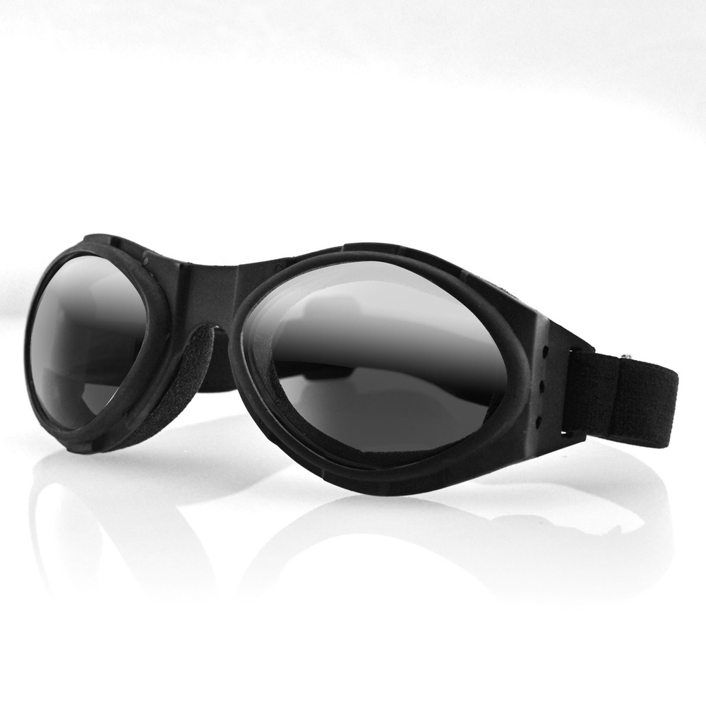 This extreme sport eyewear includes open cell sweat absorbing foam around the frame for ultimate protection. A vented, flexible plastic frame encloses polycarbonate lenses and is low profile enough to fit under a helmet. Features:  Frame Color: Black Frame Convertible: No Frame Finish: Matte Frame Foam Type: Open Cell Frame Material: Thermoplastic Frame Measurements: Temple to temple 156mm, Frame Height 54mm Frame RX Ready: Yes Frame Temples: N/A Lens Coatings: 100% UVA and UVB protection Lens Material: Polycarbonate Lens Upgrades: N/A Lenses Interchangeable: No Other included Accessories: N/A Rx Limitation: +/-3 sph +/-2 cyl Special Features: Adjustable Goggle strap Storage: Nylon Pouch Warranty: Lifetime against Manufacturing Defects Lens Color: Amber Standards Met: UV400 Open Cell Foam Rx Ready CE  Attributes:  100% UV Protection Impact Resistant Polycarbonate Lenses Frame Size: Large Thermoplastic Elastomer Frame