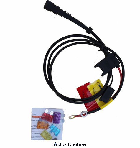 California Heat 12V Battery Harness for Motorcycle Heated Clothing