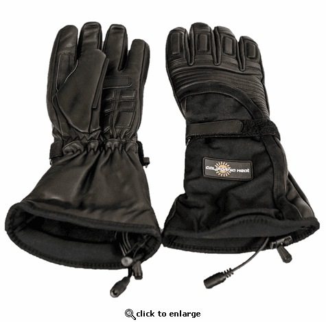 California Heat 12v Heated Leather Motorcycle Gloves The