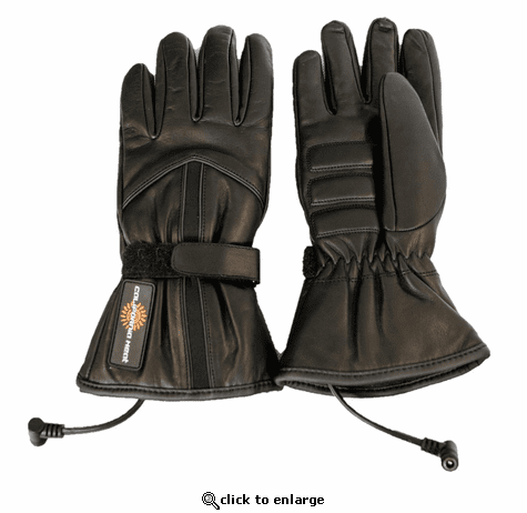 California Heat 12V Heated Leather Motorcycle Gloves