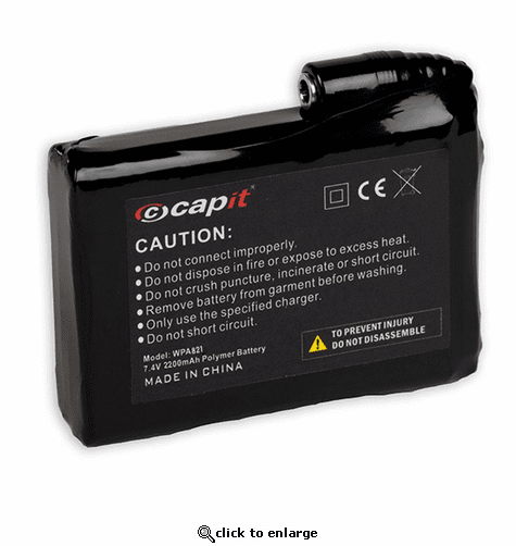 Capit Rechargeable Lithium Battery Socks with Power Setting Capacity 2200mA/h