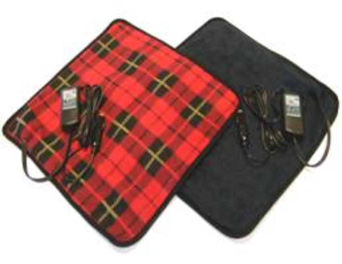Car Cozy 2 Mini 12-volt Heated Travel Pad Navy, 16x 16 with Patented Safety Timer by Trillium Worldwide