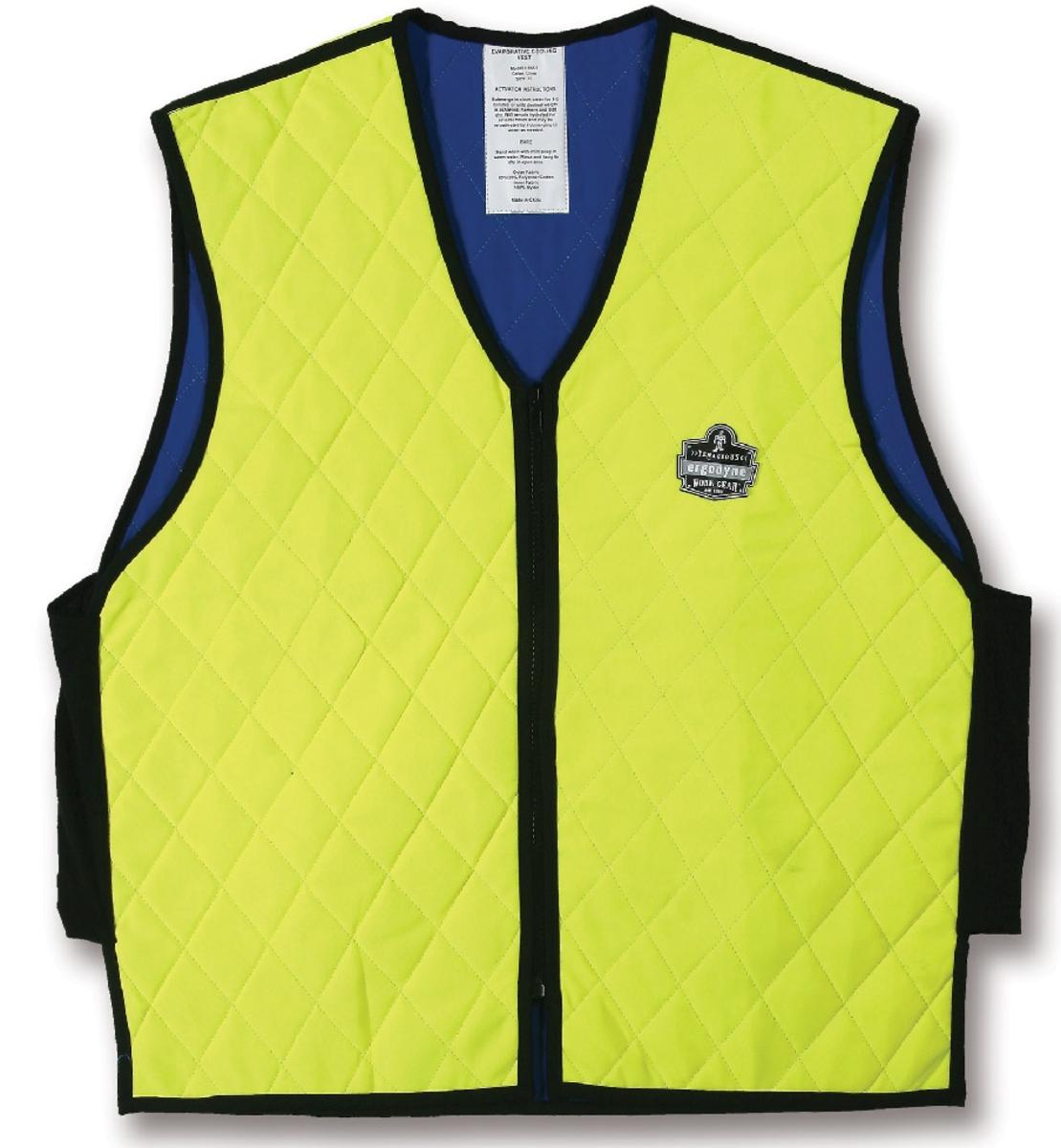 f5dab056ed987 Ergodyne Chill-Its 6665L Evaporative Cooling Vest - Hi-Viz Lime - The  Warming Store