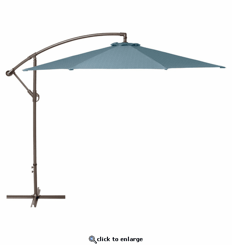 Classic Accessories Duck Covers Weekend 10 Feet Patio Cantilever Umbrella - Blue Shadow