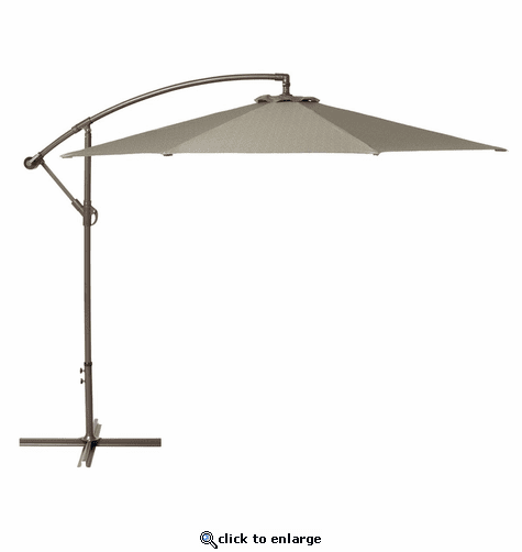 Classic Accessories Duck Covers Weekend 10 Feet Patio Cantilever Umbrella - Moon Rock