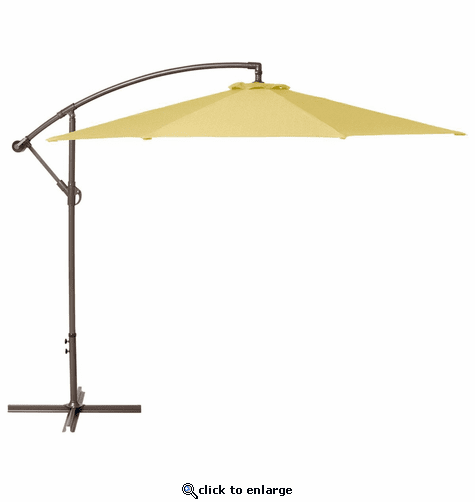 Classic Accessories Duck Covers Weekend 10 Feet Patio Cantilever Umbrella - Straw