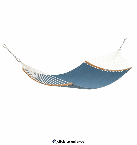 Classic Accessories Ravenna 81 x 55 Inch Quilted Double Hammock - Empire Blue