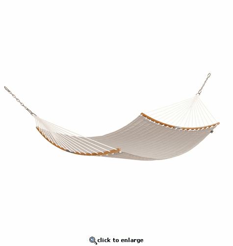 Classic Accessories Ravenna 81 x 55 Inch Quilted Double Hammock - Mushroom