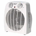 Comfort Zone 1500W Energy Saver Personal Heater Fan - White