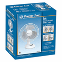Comfort Zone 16 Inch Oscillating Table Fan