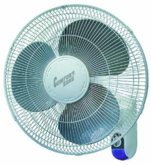 Comfort Zone 16 Inch Wall Mount Fan With Remote