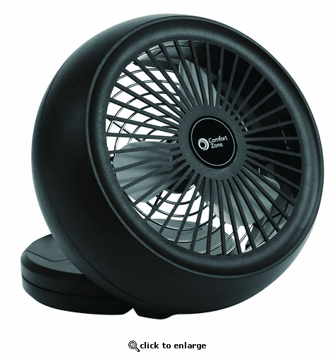 Comfort Zone Battery USB Portable Desk Fan