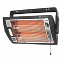 Comfort Zone CZQTV5M Quartz Electric Wall Mount Heater - Black