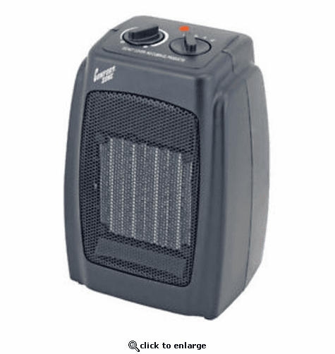 Comfort Zone Ceramic Electric Portable Fan-Forced Heater - Black