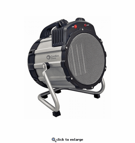 Comfort Zone CZ285 Ceramic Electric Barrel Fan-Forced Heater - Grey
