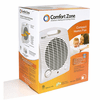 Comfort Zone CZ35 Radiant Electric Wire Element Personal Fan Forced Heater - White