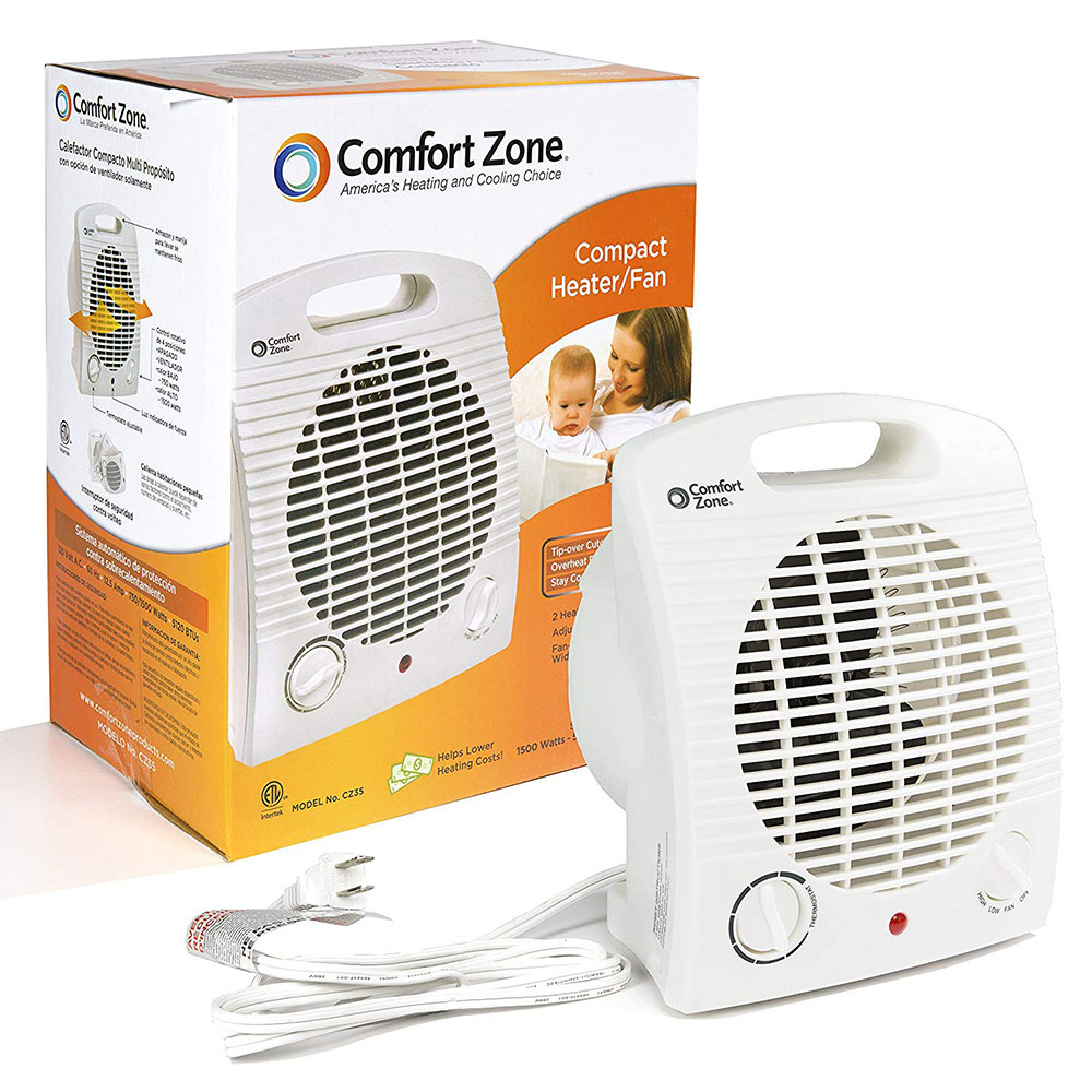 Comfort Zone Compact Heater Fan The Warming Store Wiring A Electric Space