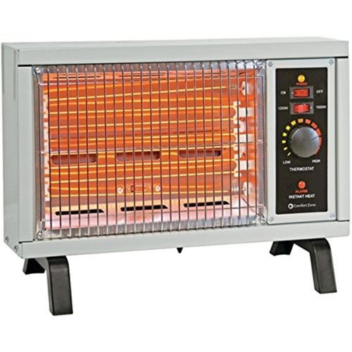 Comfort Zone CZ550 Radiant Electric Wire Element Box Heater - White