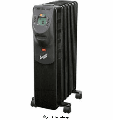 Comfort Zone CZ9009 Oil-Filled Electric Radiator Heater - Black