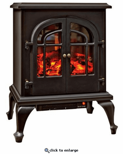 Comfort Zone CZFP5 Ceramic Electric Fireplace Stove Fan-Forced Heater - Black