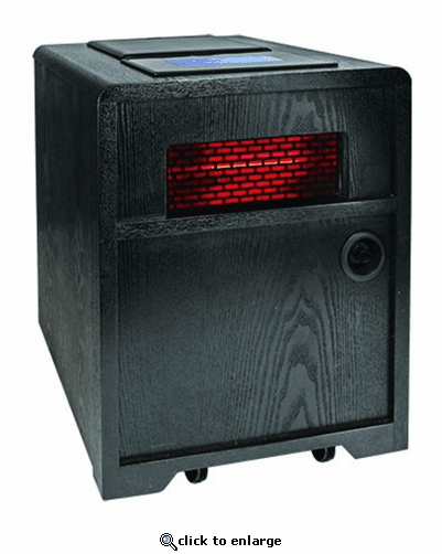Comfort Zone CZHHAP Quartz Infrared Electric Cabinet 3-in-1 Heater - Black