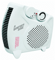 Comfort Zone CZ30 Radiant Electric Wire Element Personal Fan Forced Heater - White