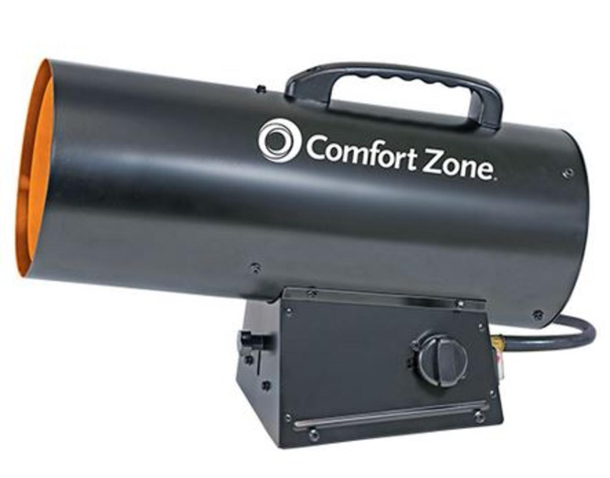 Forced Air Propane Heater >> Comfort Zone Czpp300 Radiant Propane Portable Forced Air Heater