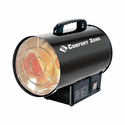Comfort Zone CZPP200 Radiant Propane Portable Forced Air Heater - Black