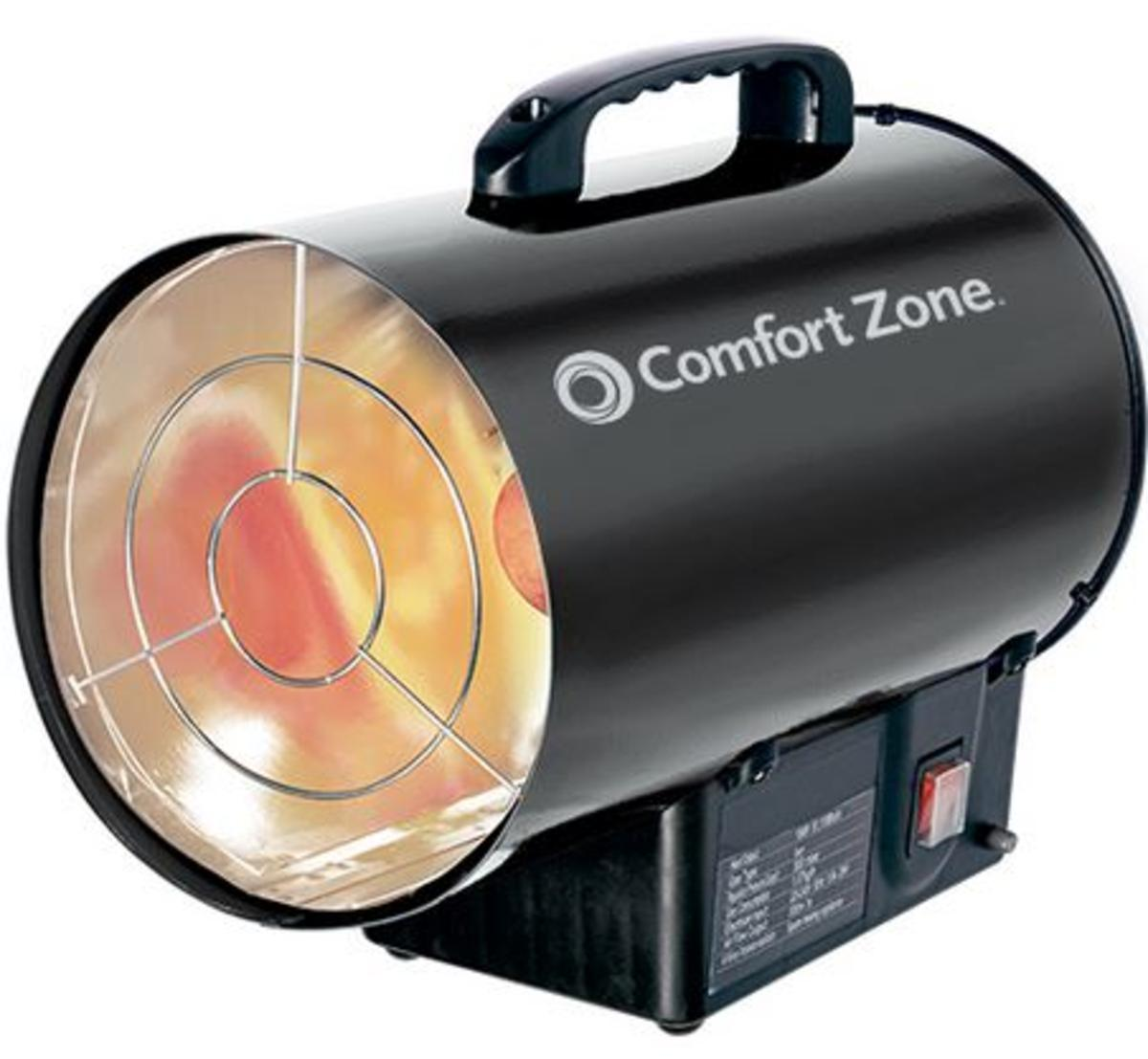 Forced Air Propane Heater >> Comfort Zone Czpp200 Radiant Propane Portable Forced Air Heater