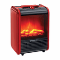 Comfort Zone CZFP1 Ceramic Electric Fireplace Stove Fan-Forced Heater - Red