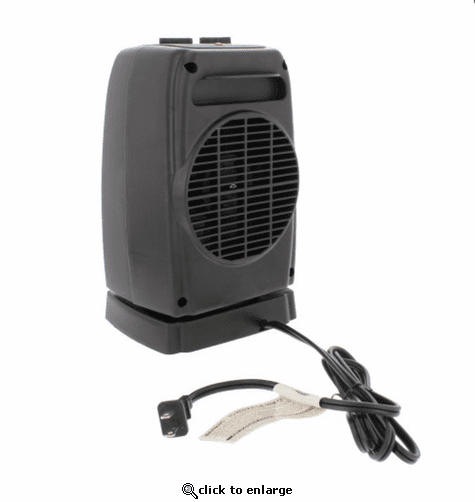 Comfort Zone Oscillating Ceramic Portable Fan Forced Heater  CZ448
