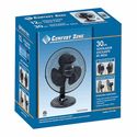 "Comfort Zone 12"" Oscillating Table Fan - Black"