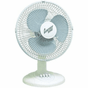 "Comfort Zone 12"" Oscillating Table Fan - White"