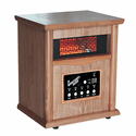Comfort Zone Quartz Infrared Wood Cabinet Heater