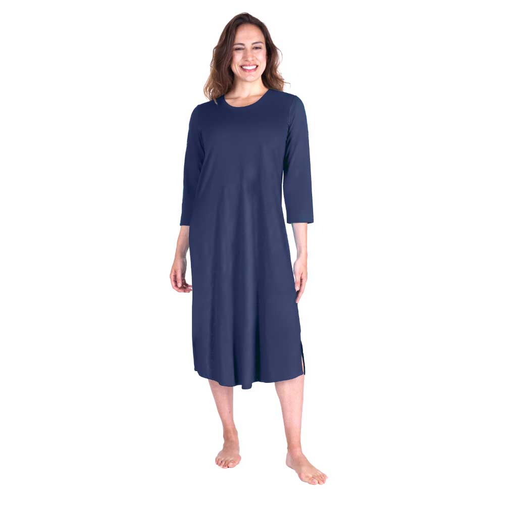 de54949a71 Cool Jams Long Length Moisture Wicking Scoop Neck Nightgown - The Warming  Store