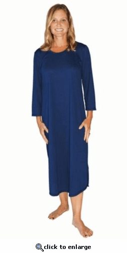 Cool Jams Long Length Moisture Wicking Scoop Neck Nightgown