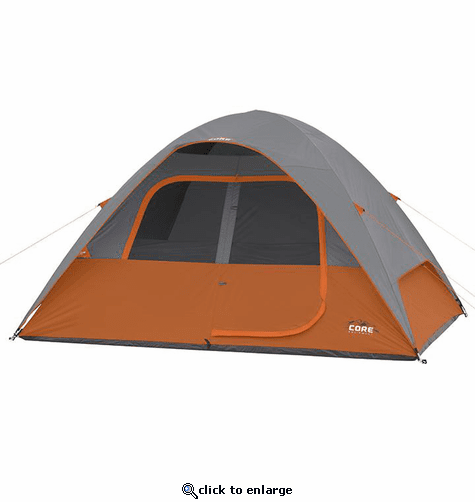Core Equipment 6 Person Dome Tent 11 x 9 ft